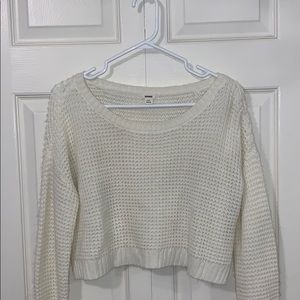 White Knitted crop sweater